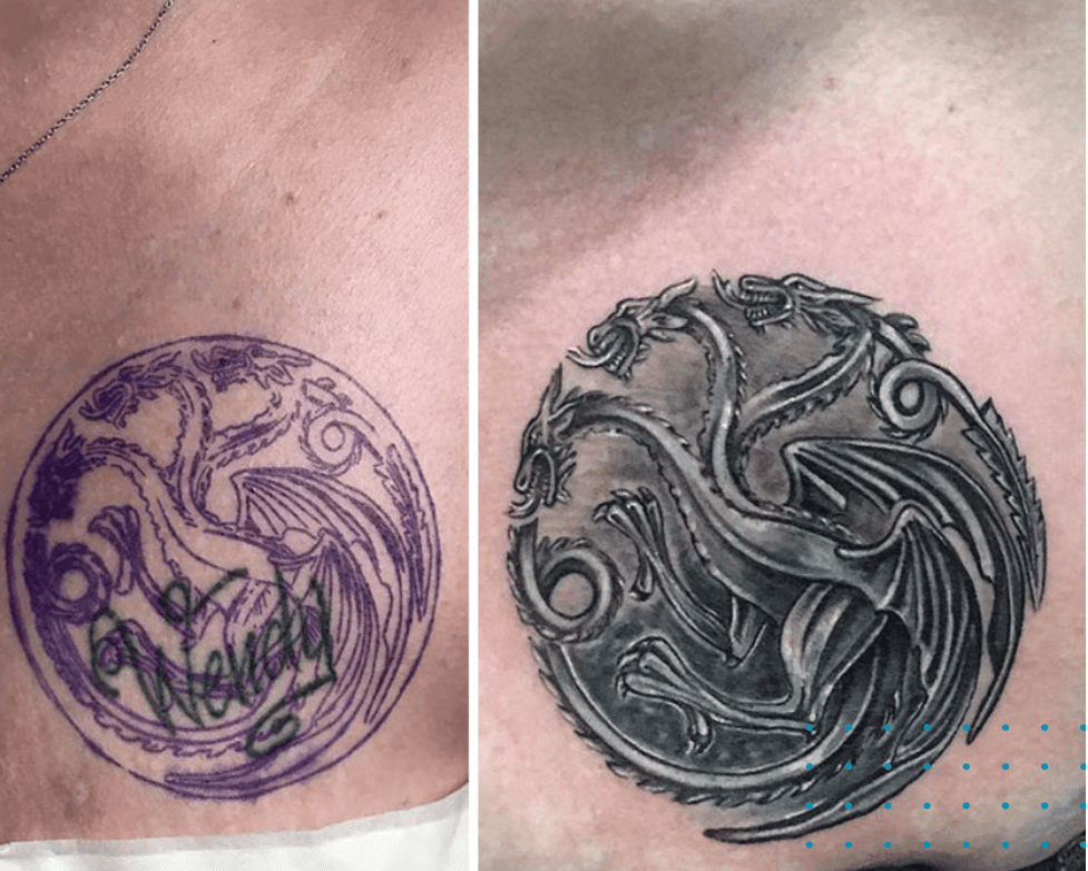 dragon tattoo cover up