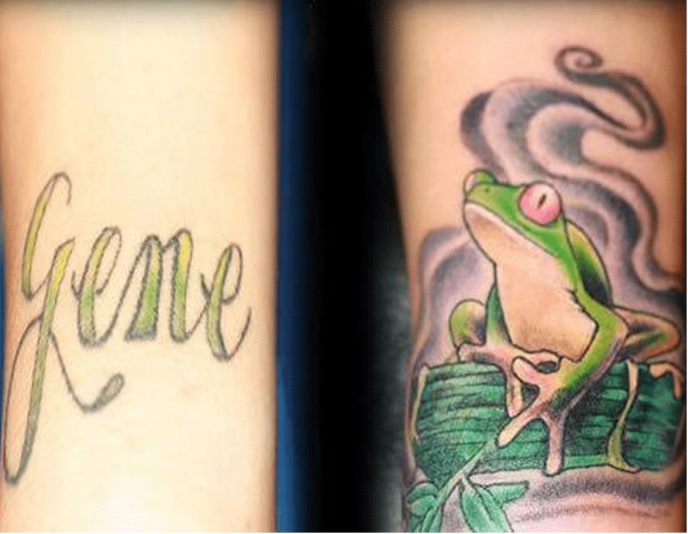 frog tattoo cover up