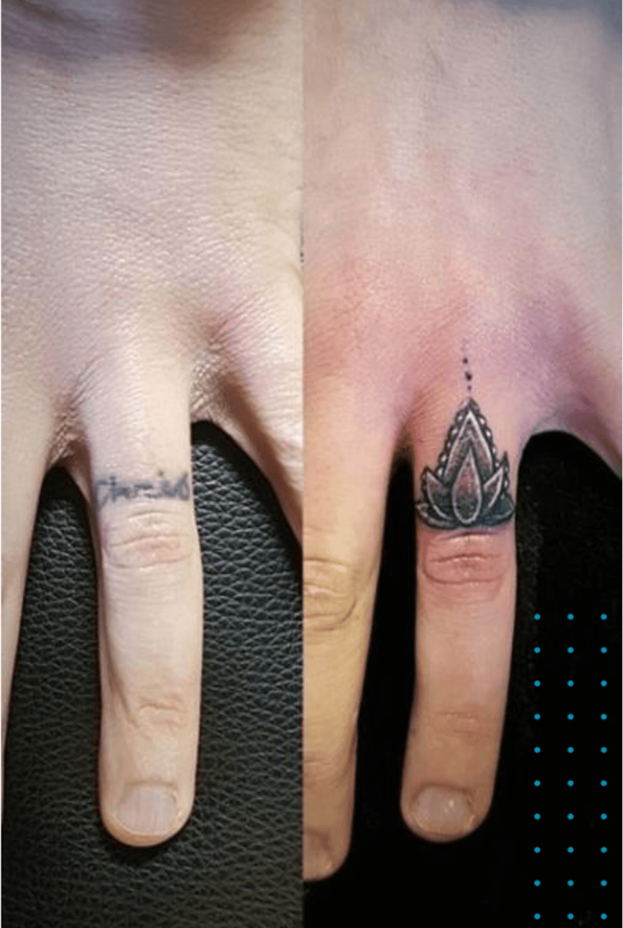 ring finger tattoo cover up