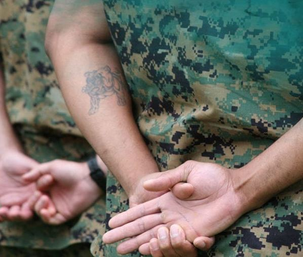Tattoos in the military